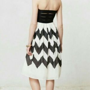 Anthropologie Dress Leifnotes Black and White